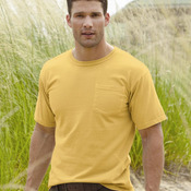 Pigment-Dyed Short Sleeve Shirt with a Pocket