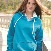 Ladies' Sydney Brushed V-Neck Hooded Sweatshirt