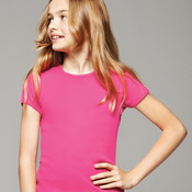 Girls' Baby Rib Short Sleeve Crewneck T-Shirt