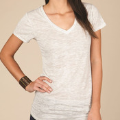 Ladies' Diane V-Neck Burnout T-Shirt